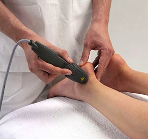 Laser foot therapy on the Sunshine Coast
